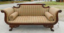 Mahogany Eagle Head Carved Sofa~Turn of the Century