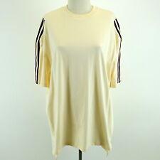 IVY PARK ADIDAS New w/Tag Cream & Maroon Striped Oversized T-shirt GK4889 Sz XL