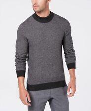 $110 Tasso Elba Men'S Gray Long-Sleeve Top Crew-Neck Pullover Sweatshirt Size Xl