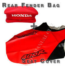 Honda Xr400 1999 XR400R, XR 400 Rear Fender Bag & Seat Cover 1999, Free Shipping