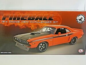 ACME 1/18th Scale FIREBALL 1971 Dodge Hemi Challenger R/T Limited Edition