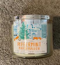 Bath & Body Works Peppermint Marshmallow Candle 14.5 oz Brand New