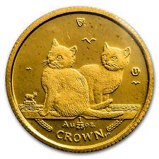 2003 Isle of Man 1/25 oz Gold Balinese Kittens Cat Bu - Sku #132638