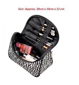 LARGE WOMEN COSMETIC MAKE UP TRAVEL BOX TOILETRY BAG CASE WASH HOLDER HANDBAG UK