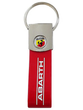 Official Key Ring Abarth Logo, Red