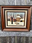 Original H Hargrove Deep In Winter Oil Painting on Canvas Signed Certified 8x10