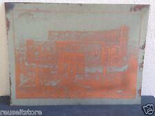 "Vintage Printing Plate 24"" ROME Copper Etch Plastic Plexi? Lithographic ?"