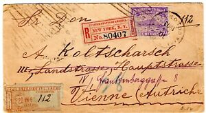 COLOMBIA - AUSTRIA - 1000 DAYS WAR - 20c REGISTERED COVER to VIENNA - 1903 RRR
