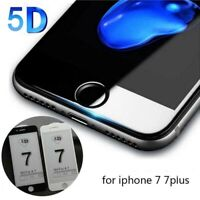 For Apple iPhone 7/8Plus 5D Full Cover Curved Tempered Glass Screen Protector Sw