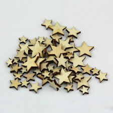 50xWooden Mini Mixed Wood Star Embellishment Cardmaking Scrapbooking Craft A6C7