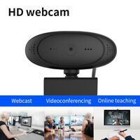 HD 1080P Webcam Rotatable Laptop PC Built-in Camera Video Recording w/Microphone