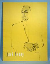 1963 Jack Benny Souvenir Live Stage Show Concert Program Booklet Radio Movie TV