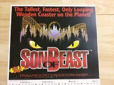 Son of Beast Kings Island OH Defunct Roller Coaster 2000 calendar mini poster