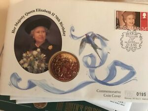 12  First Day Coin Covers HM Queen Various