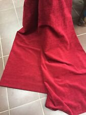 "PRELOVED  FULLY LINED DEEP CRANBERRY RED TEXTURED DRAPES 51"" wide x 88"" long"