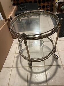 Antique silver tea cart