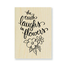 STAMPENDOUS RUBBER STAMPS EARTH LAUGHS NEW wood STAMP