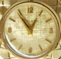 "24"" Pendant Watch Bulova 20M Gold Plate Case Chain 1/20 12K GF Wind Up Swiss 17J"