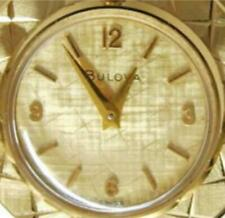 "24"" Pendant Watch Bulova 20M Gold Plate Case Chain 1/20 12K GF Wind Up Swiss 17J"
