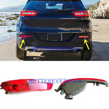 Rear Bumper Reflector Fog Light Lamp Cover fit for Jeep Cherokee 2014-2018