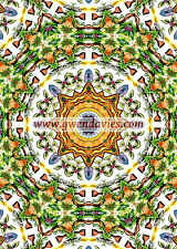 Forest Green Mandala card, birthday, greetings hippy boho blank card UK artist
