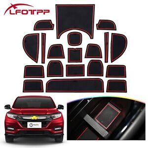LFOTPP Car Gate Slot Mats Non-slip Cup Pads Accessories For 2020 Honda HRV Vezel