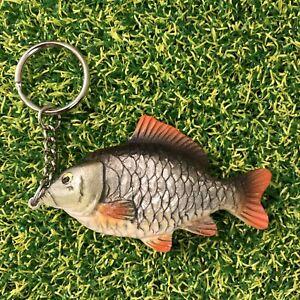 Common Carp Keyring ,Carp Fishing, Anglers Keyring,Gift For Any Angler. (Silver)