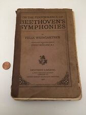 RARE! On The Performance Of Beethoven's Symphonies 1907 Felix Weingartner