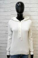 Maglione Ralph Lauren Felpa Donna Size M Pullover Sweater Cardigan Maglia Bianco
