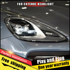 For Porsche Cayenne Headlights assembly LED Lens Single Beam LED KIT 2011-2014