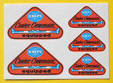 EMPI 'Camber Compensator' Retro vintage style Sticker set Decal VOLKSWAGEN VW