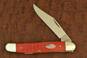 CASE XX USA FIRE ENGINE RED DELRIN STOCKMAN KNIFE NICE 6147 SS 2003 NICE (6443)