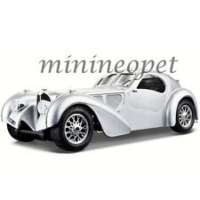 BBURAGO 18-22092 BUGATTI ATLANTIC 1/24 DIECAST MODEL CAR SILVER