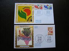 FRANCE - 2 enveloppes 1er jour 1975/1978 (bourgogne/unesco) (cy85) french