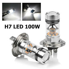 2Pcs H7 100W 150000LM Car COB LED Headlight Fog Light 6000K CREE White Bulbs
