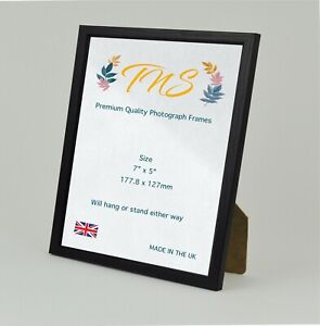 """Premium Quality 7 x 5"""" Photo Poster Picture Frame Black Made in UK Fast Dispatch"""