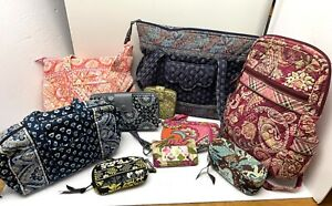 Vera Bradley LOT of 10 - Backpack 100 Bag Tote Wallets GOOD Used Condition $2.50