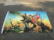 More details for iron maiden the trooper 5 x 3ft flag/banner patriot loyalist british heavy metal
