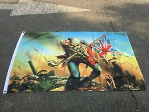 IRON MAIDEN THE TROOPER 5 X 3FT FLAG/BANNER PATRIOT LOYALIST BRITISH HEAVY METAL