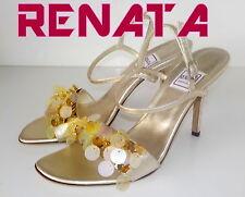 "Luxury Italian""RENATA"" GOLD  LEATHER Sandals Shoes UK  3 EU  35.5  £ 165 NEW"