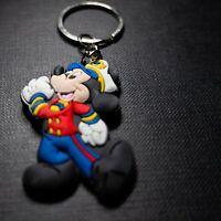 Mickey Mouse Sailor PVC Kawaii Cute Cartoon Novelty Keyring Keychain Gift Bag