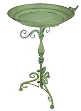 Iron metal Bird on Birdbath Green Outdoor Lawn Garden Patio Bird Bath