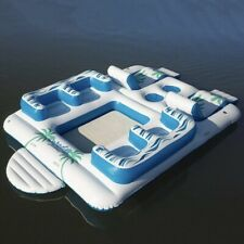 MembersMark 6 Person Giant Tropical Floating Inflatable Island Water Lounge Raft