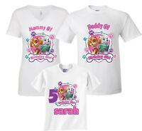 Paw Patrol Birthday Girl Family Birthday Cute matching T-Shirts