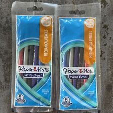 2 Paper Mate Write Bros 07mm 2 Mechanical Pencils 2 Packs Of 5 Each New
