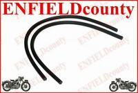 NEW BLACK FRONT LEG SHIELD RUBBER PAIR FOR LAMBRETTA GP LI TV SX SCOOTS @DE
