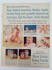 1964 Heinz baby food muscles bones teeth body diaper crawling ad