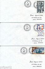 ET2751 - TIMBRES TAAF sur 4 Enveloppes Expéditions Polaires ou autres