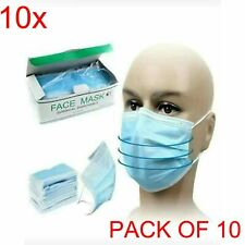 10 x Face Mask Nose Mouth Protection Masks Can Protect From Airborne Particle UK