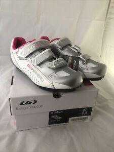 GARNEAU Women's Jade White Pink Cycling Shoes EU 37 US 6.5